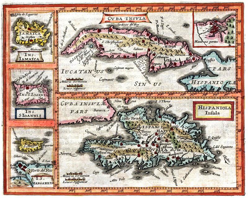 caribisch gebied kaart